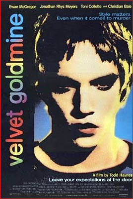 A poster of Velvet Goldmine