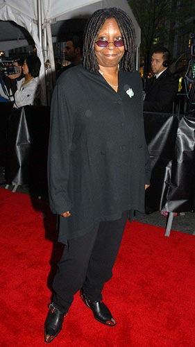 Whoopi Goldberg arrives at the event