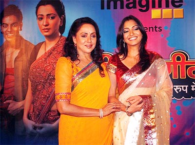 Hema Malini and Anjorie Alagh