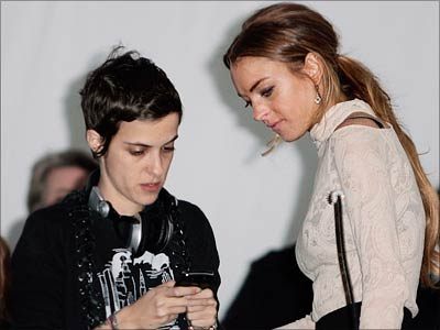 Samantha Ronson and Lindsay Lohan