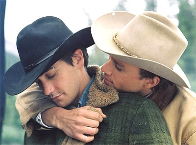 A scene from Brokeback Mountain