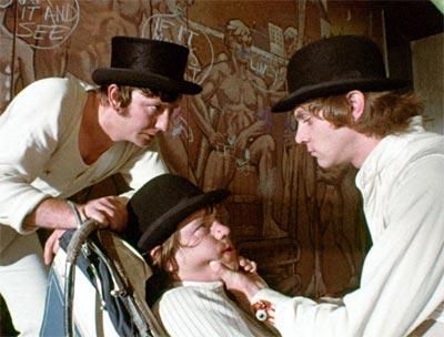 A scene from A Clockwork Orange