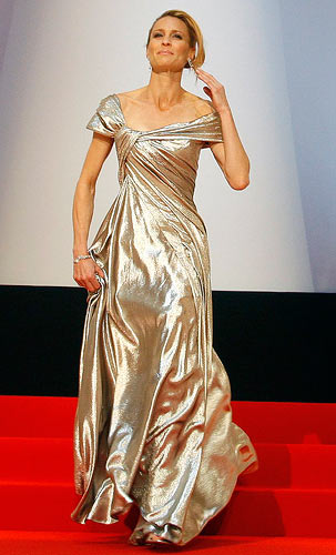 Jury member and actress Robin Wright Penn arrives for the opening ceremony of the 62nd Cannes Film Festival.