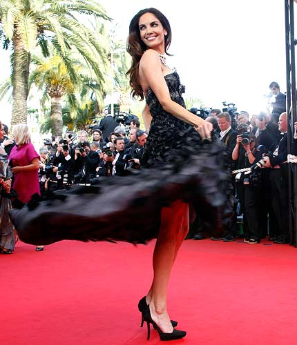 Spain's model Eugenia Silva arrives for the screening of the animated film Up by director Pete Docter