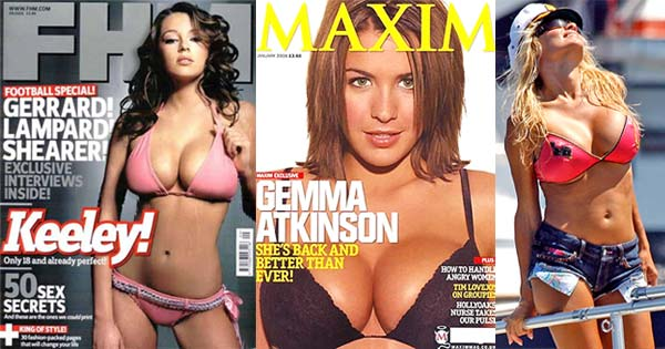 Keeley Hazell, Gemma Atkinson and Pamela Anderson