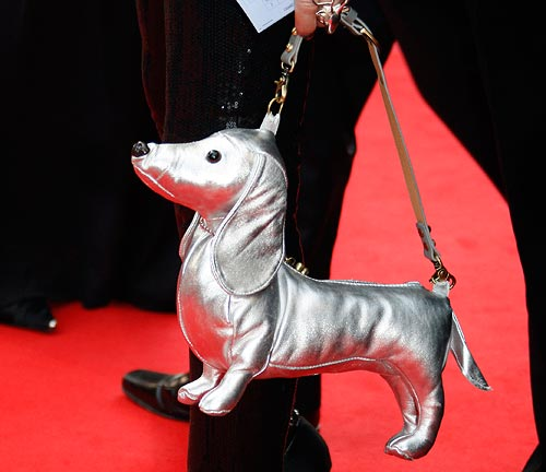 A guest with a dog-shaped hand bag.