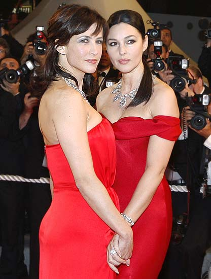 Sophie Marceau and Monica Bellucci