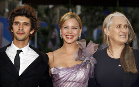 Cast members Ben Wishaw, Abbie Cornish and director Jane Campion