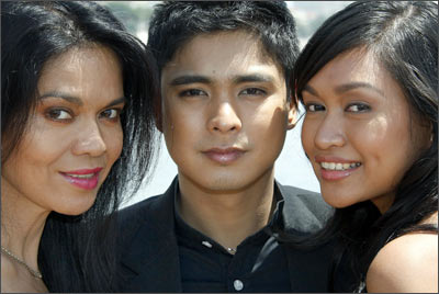 Cast members Maria Isabel Lopez, Coco Martin and Mercedes Cabral