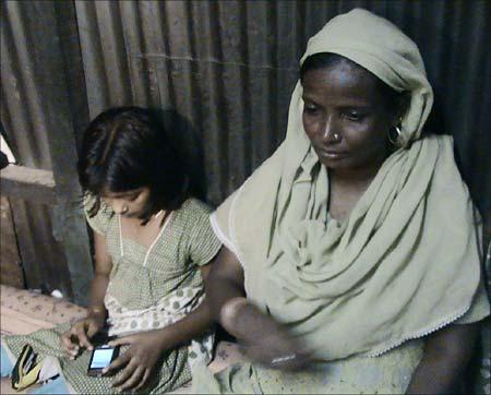 Rubina and her mother Munni