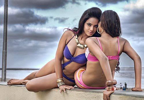 Neetu Chandra and Krishikha Gupta