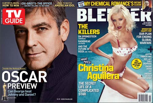 George Clooney and Christina Aguilera