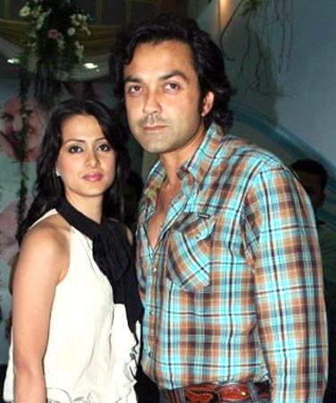Tania Deol and Bobby Deol
