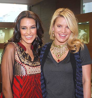 Neha Dhupia and Jessica Simpson