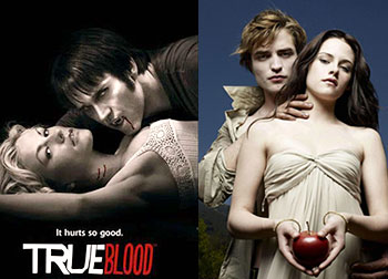 Scenes from True Blood and Twilight