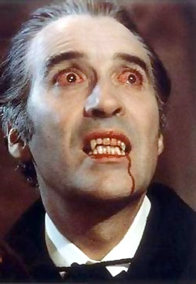 Christopher Lee in a scene from Dracula