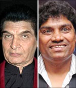Asrani and Johnny Lever