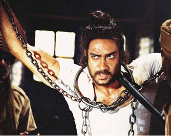 A scene from The Legend of Bhagat Singh