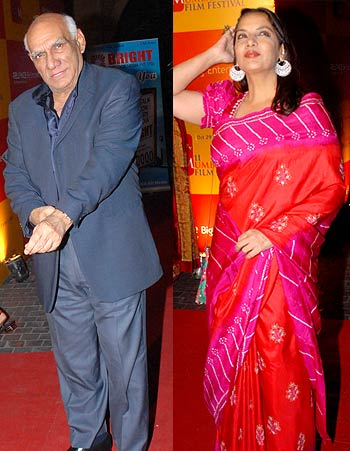 Yash Chopra and Shabana Azmi