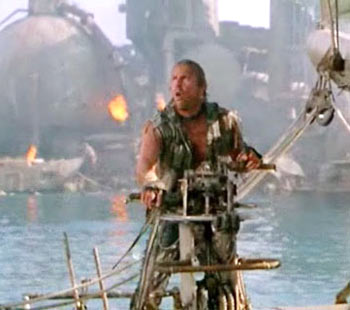 A scene from Waterworld