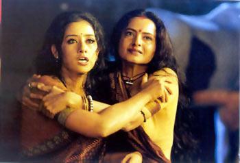 Manisha Koirala and Rekha in Lajja.