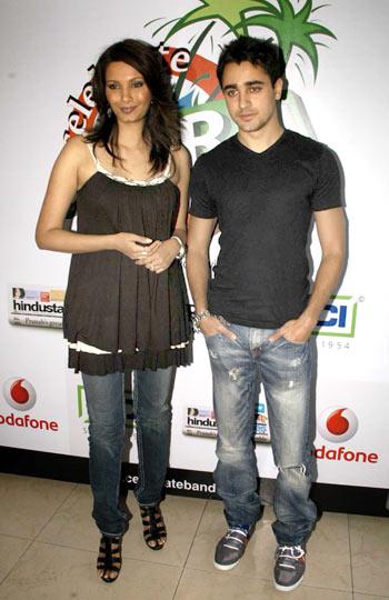 Diana Hayden and Imran Khan