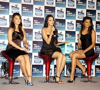 Minissha Lamba, Neha Dhupia and Mugdha Godse