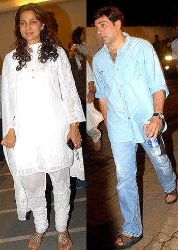 Juhi Chawla and Sunny Deol