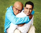 Amitabh and Abhishek Bachchan in a scene from Paa