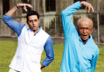 Abhishek and Amitabh Bachchan in a scene from Paa