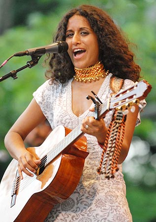 Rupa Marya performs in New York's Central Park
