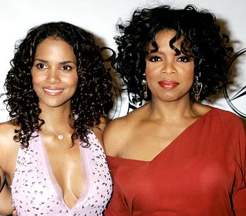 Actress Halle Berry and Oprah Winfrey
