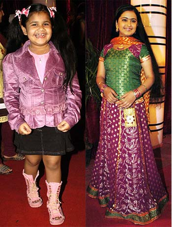 Saloni and Avika Gor