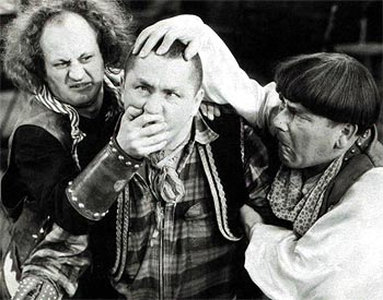 A scene from The Three Stooges