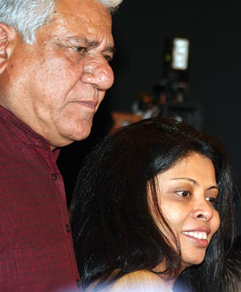 Om Puri with his wife Nandita Puri
