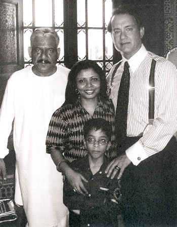 Om Puri, Nandita, Isshaan and Tom Hanks
