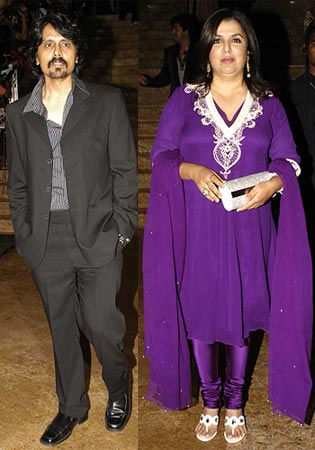 Nagesh Kukunoor and Farah Khan