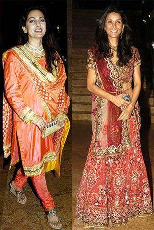 Juhi Chawla and Mehr Jesia