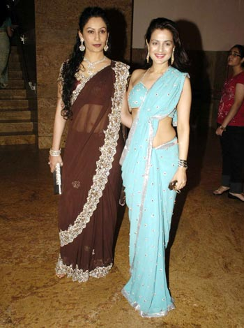 Manyata Dutt and Amisha Patel
