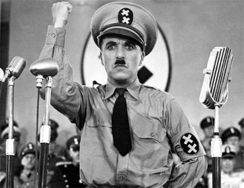 A scene from The Great Dictator