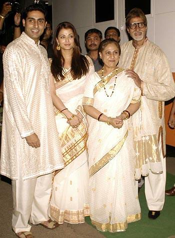 Abhishek, Aishwarya Rai, Jaya and Amitabh Bachchan