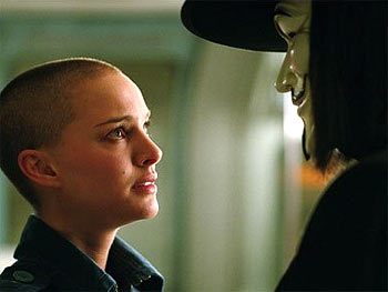 A scene from V for Vendetta