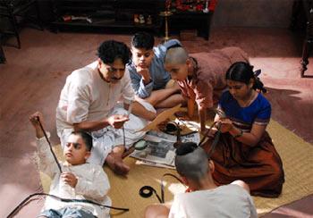 A scene from Harishchandrachi Factory