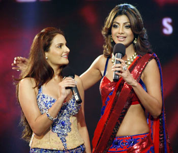 Monica Bedi and Shilpa Shetty