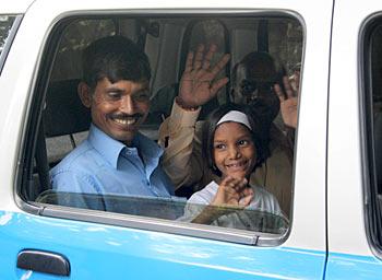 Rajendra and his daughter Pinki