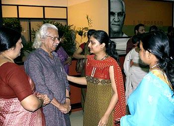 Filmmaker Adoor Gopalakrishna chats with Geetu Mohandas