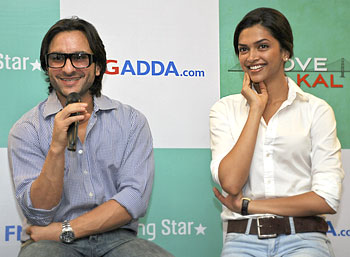 Saif Ali Khan and Deepika Pdukone