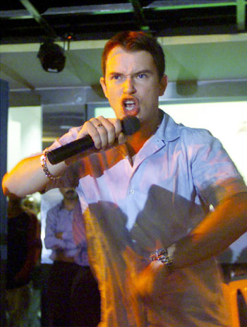 Stephen Gately during a tour of Mumbai in 200