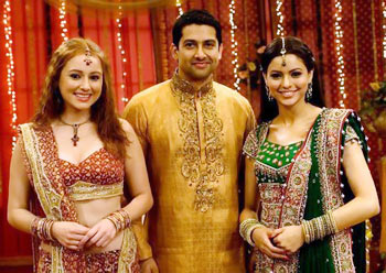 Linda Arsenio, Aftab Shivdasani and Aamna Sharif