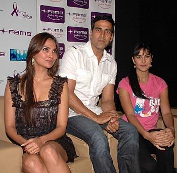 Lara Dutta, Akshay Kumar and Katrina Kaif